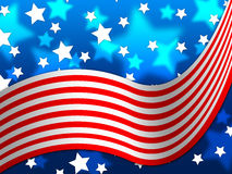 American Flag Background Means National Proud And Identity Royalty Free Stock Images