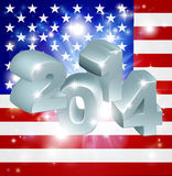 2014 American Flag. American flag 2014 background. New Year or similar concept royalty free illustration