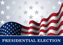 American flag background Presidential Election. American flag, for Presidential Election, vote, 4th July, Independence Day celebration. Patriotic background Stock Photo