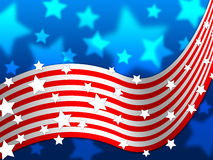 American Flag Background Shows America Stars And Nation Royalty Free Stock Image