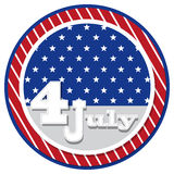 American flag background with stars symbolizing 4th july indepen. Dence day, illustration in vector format Royalty Free Stock Photography