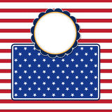 American flag background with stars symbolizing 4th july indepen. Dence day, illustration in vector format Royalty Free Stock Photos