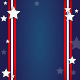 American Flag Background. With text frame Royalty Free Stock Photo
