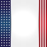 American Flag Background. With text frame Stock Image