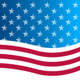 American flag background. Flag USA American Culture Star Form Striped countries Waving Number vector illustration