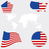 American  flag  background. Royalty Free Stock Photography