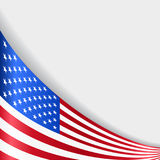 American flag background. Vector illustration. American flag wavy abstract background. Vector illustration Royalty Free Illustration