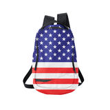 American flag backpack isolated on white Royalty Free Stock Photos