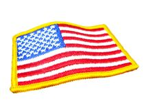 American flag badge Stock Image