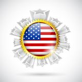 American Flag Badge Stock Photos