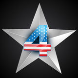 American flag badge Stock Photography