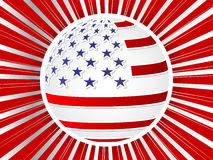 American flag ball Royalty Free Stock Photo