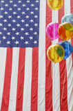 American Flag and Balloons Royalty Free Stock Photos