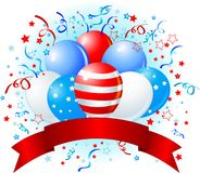 American flag balloons design Stock Image