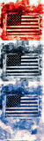 American Flag Banner. Mix Media Collage with space at the bottom for text Royalty Free Stock Image