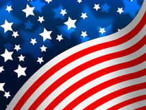 American Flag Banner Means States America And Stars. American Flag Banner Meaning States America And Stars Royalty Free Stock Image
