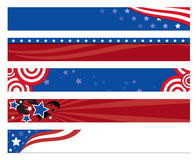 American Flag Banners Royalty Free Stock Photos