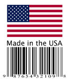 American flag and bar code Stock Image