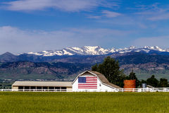American Flag Barn in Boulder, CO Stock Image