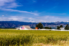 American Flag Barn in Boulder, CO Royalty Free Stock Image