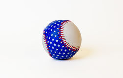 American flag base ball. Baseball with a patriotic theme Royalty Free Stock Photos