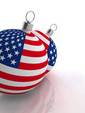 American flag baubles Royalty Free Stock Photography