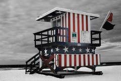 American, Flag, Beach Royalty Free Stock Photo