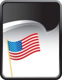 American flag on black rip curl background. Black rip curl background with an american flag Stock Photos