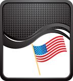 American flag black template Stock Images