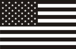 American flag in black and white Royalty Free Stock Image