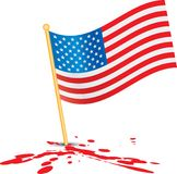 American flag on blood Stock Images