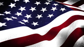 American flag blowing. Digital animation of American flag blowing stock video footage