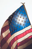 American flag blowing in the wind Royalty Free Stock Photo