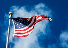 Star Spangled Banner and a Cloud Royalty Free Stock Image