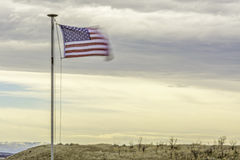 American flag blows in the wind Stock Photography