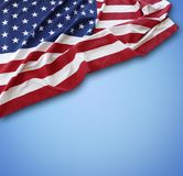 American flag. On blue background Stock Images