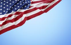 American flag. On blue background Royalty Free Stock Images