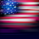American flag in blur style, faded black. Royalty Free Stock Photography