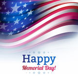 American flag in blur style, faded white Stock Photos