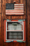 American flag on a boathouse Royalty Free Stock Images