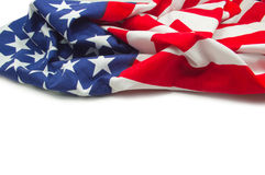 American flag border isolated Royalty Free Stock Photography