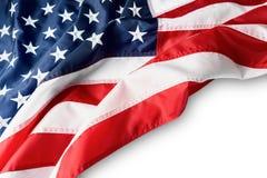 American flag border isolated on white background. Space for text. American flag border isolated on white background. Space for text Royalty Free Stock Photo