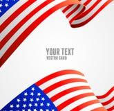 American flag border vector illustration. On white Royalty Free Stock Image