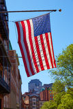American flag in Boston downtown Massachusetts royalty free stock photography