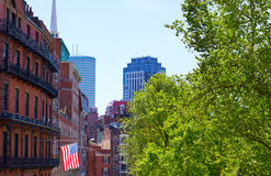 American flag in Boston near Common Royalty Free Stock Photos