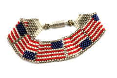 American Flag Bracelet Stock Photos