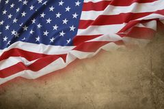 American flag. On brown background Stock Image