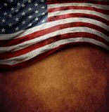 American flag on brown stock photography