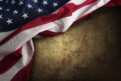 American flag. On brown background Royalty Free Stock Images