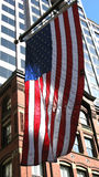 American flag and buildings Royalty Free Stock Images